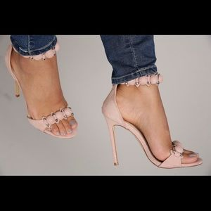 Shoes - Blush Ankle strap heels